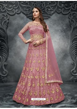 Old Rose Latest Heavy Designer Party Wear Anarkali Suit