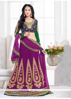 Hypnotizing Patch Border Work A Line Lehenga Choli