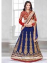 Zesty Patch Border Work Georgette A Line Lehenga Choli