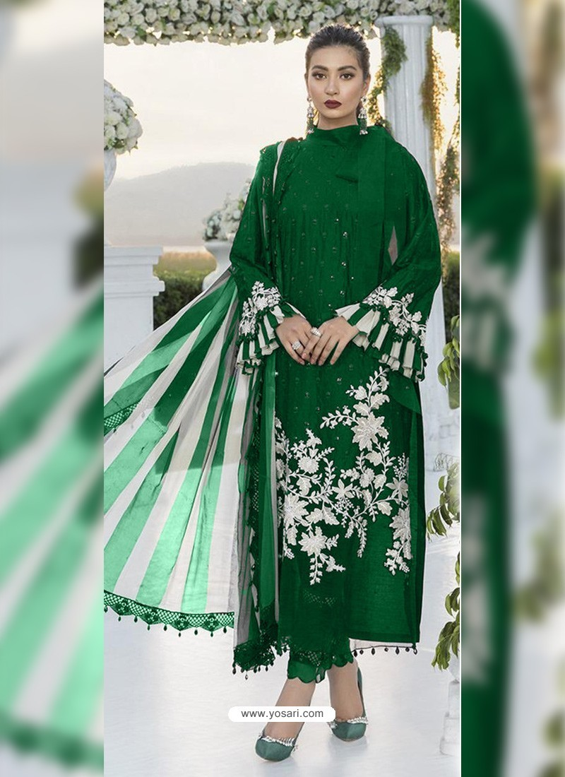 Forest Green Party Wear Designer Heavy Net Pakistani Suit