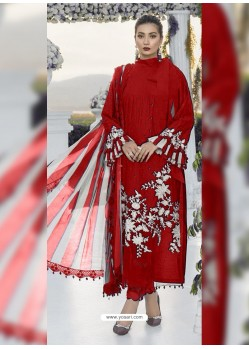 Red Party Wear Designer Heavy Net Pakistani Suit