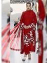 Red Party Wear Designer Heavy Net Pakistani Suit