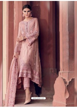 Baby Pink Heavy Designer Party Wear Faux Georgette Pakistani Suit