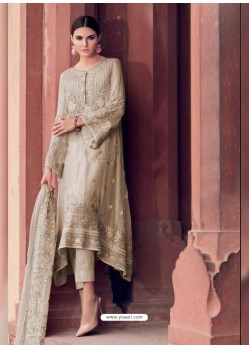 Gold Heavy Designer Party Wear Faux Georgette Pakistani Suit