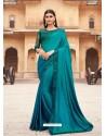 Blue Flawless Designer Party Wear Sari
