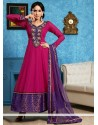 Hot Pink Georgette Anarkali Salwar Suit