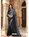 Grey Flawless Designer Party Wear Sari