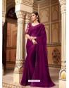 Purple Flawless Designer Party Wear Sari