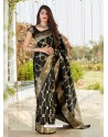Black Latest Designer Classic Wear Silk Sari