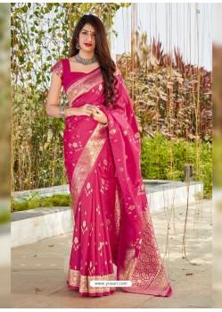 Rani Latest Designer Classic Wear Silk Sari