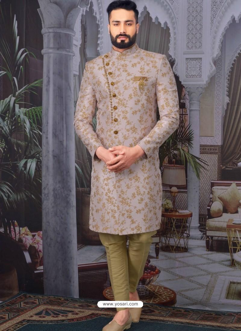 Dusty Pink Readymade Designer Indo Western Sherwani