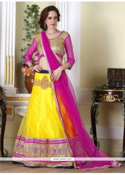 Specialised Embroidered Work Net A Line Lehenga Choli