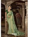 Green Latest Casual Wear Designer Printed Soft Cotton Sari