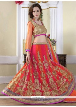 Urbane Embroidered Work Net A Line Lehenga Choli