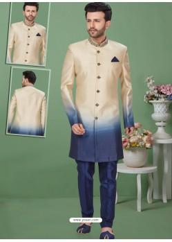 Multi Colour Readymade Designer Indo Western Sherwani