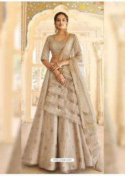 Taupe Dazzling Designer Wedding Wear Lehenga Choli