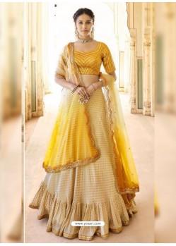 Yellow Dazzling Designer Wedding Wear Lehenga Choli
