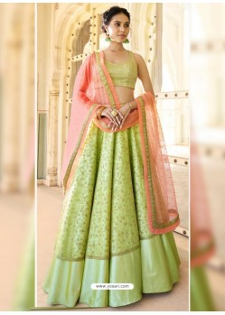 Green Dazzling Designer Wedding Wear Lehenga Choli