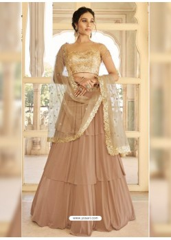 Beige Dazzling Designer Wedding Wear Lehenga Choli