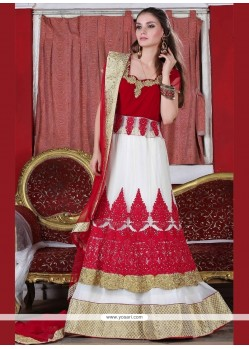 Intrinsic Resham Work Net A Line Lehenga Choli