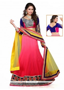 Especial Embroidered Work Georgette A Line Lehenga Choli