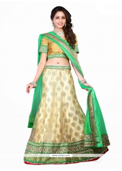 Beauteous Green A Line Lehenga Choli