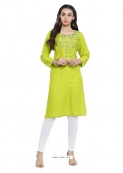 Green Latest Designer Readymade Party Wear Kurti