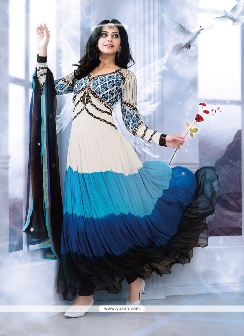 Multicolor Georgette Designer Anarkali Suits