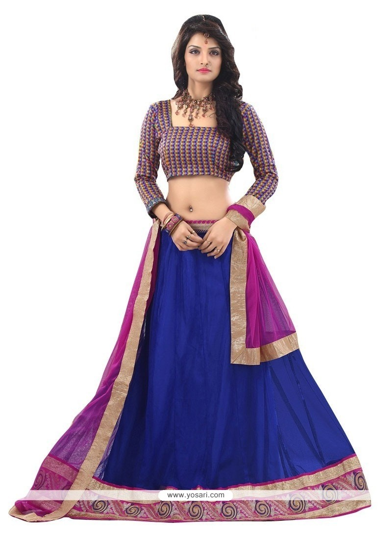 Dignified Patch Border Work A Line Lehenga Choli