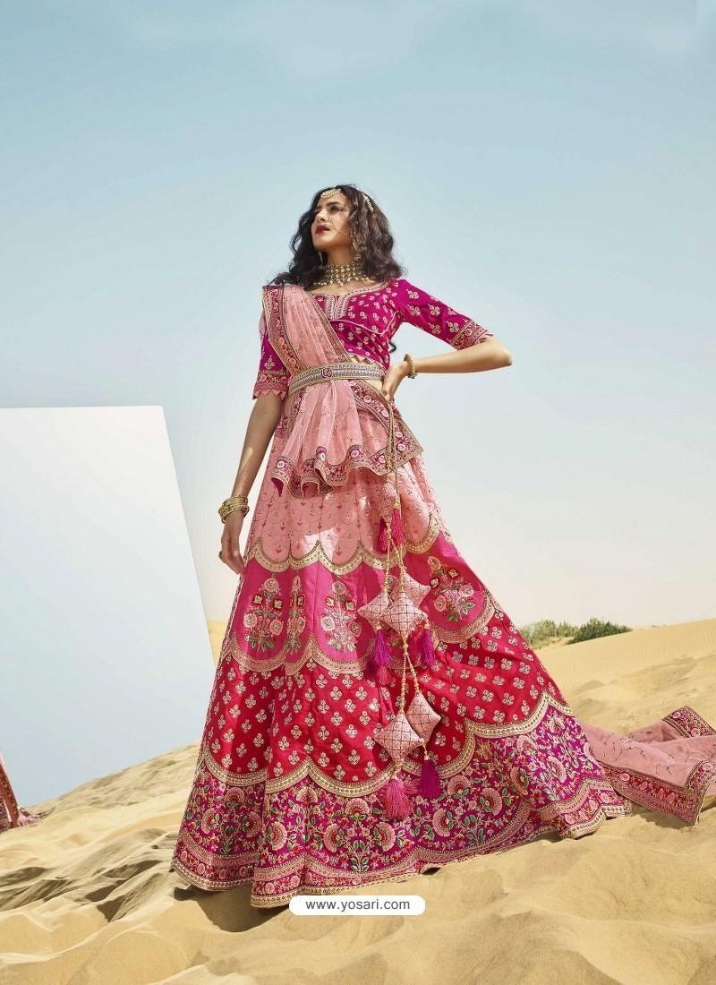 Multi Colour Heavy Embroidered Designer Bridal Lehenga Choli