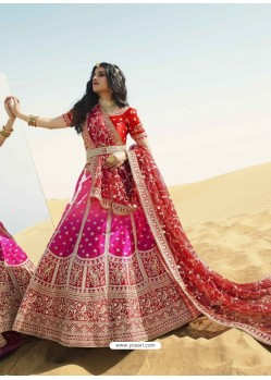 Multi Colour Heavy Embroidered Designer Bridal Lehenga Choli