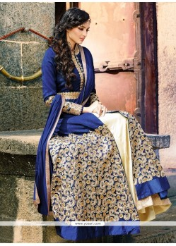 Sensible Crepe Silk Blue Zari Work Designer Lehenga Choli
