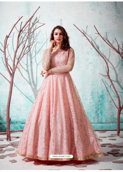 Baby Pink Stunning Designer Party Wear Gown