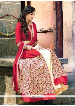 Amusing Zari Work Red Designer Lehenga Choli