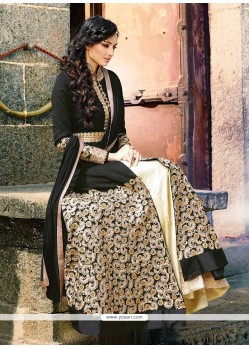 Winsome Crepe Silk Black Embroidered Work Designer Lehenga Choli