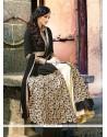 Winsome Crepe Silk Black Embroidered Work Designer Lehenga Choli