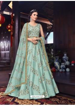 Sky Blue Latest Heavy Designer Party Wear Anarkali Suit