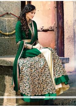 Hypnotic Crepe Silk Green Designer Lehenga Choli