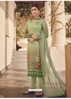 Green Latest Designer Casual Wear Palazzo Suit