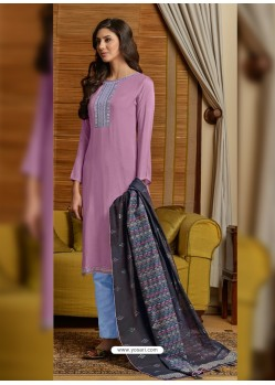 Lavender Latest Designer Party Wear Palazzo Suit