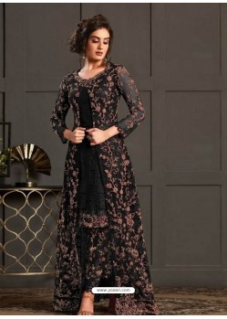 Black Designer Party Wear Super Net Pakistani Suit