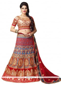 Deserving Resham Work Multi Colour A Line Lehenga Choli