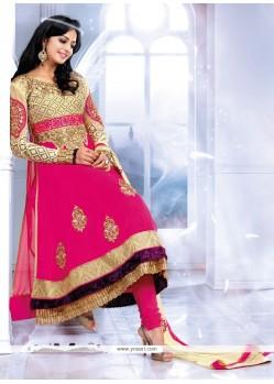 Exceptional Pink Georgette Anarkali Salwar Suit