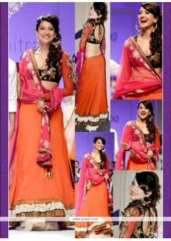 Gauhar Khan Lace Work A Line Lehenga Choli