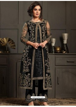 Black Designer Party Wear Butterfly Net Pakistani Suit