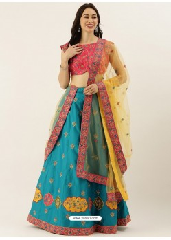 Blue Latest Designer Wedding Wear Lehenga Choli