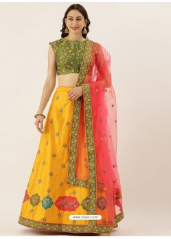 Yellow Latest Designer Wedding Wear Lehenga Choli