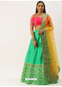 Jade Green Latest Designer Wedding Wear Lehenga Choli