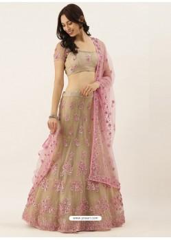 Gold Latest Designer Wedding Wear Lehenga Choli
