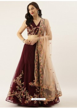 Maroon Latest Designer Wedding Wear Lehenga Choli